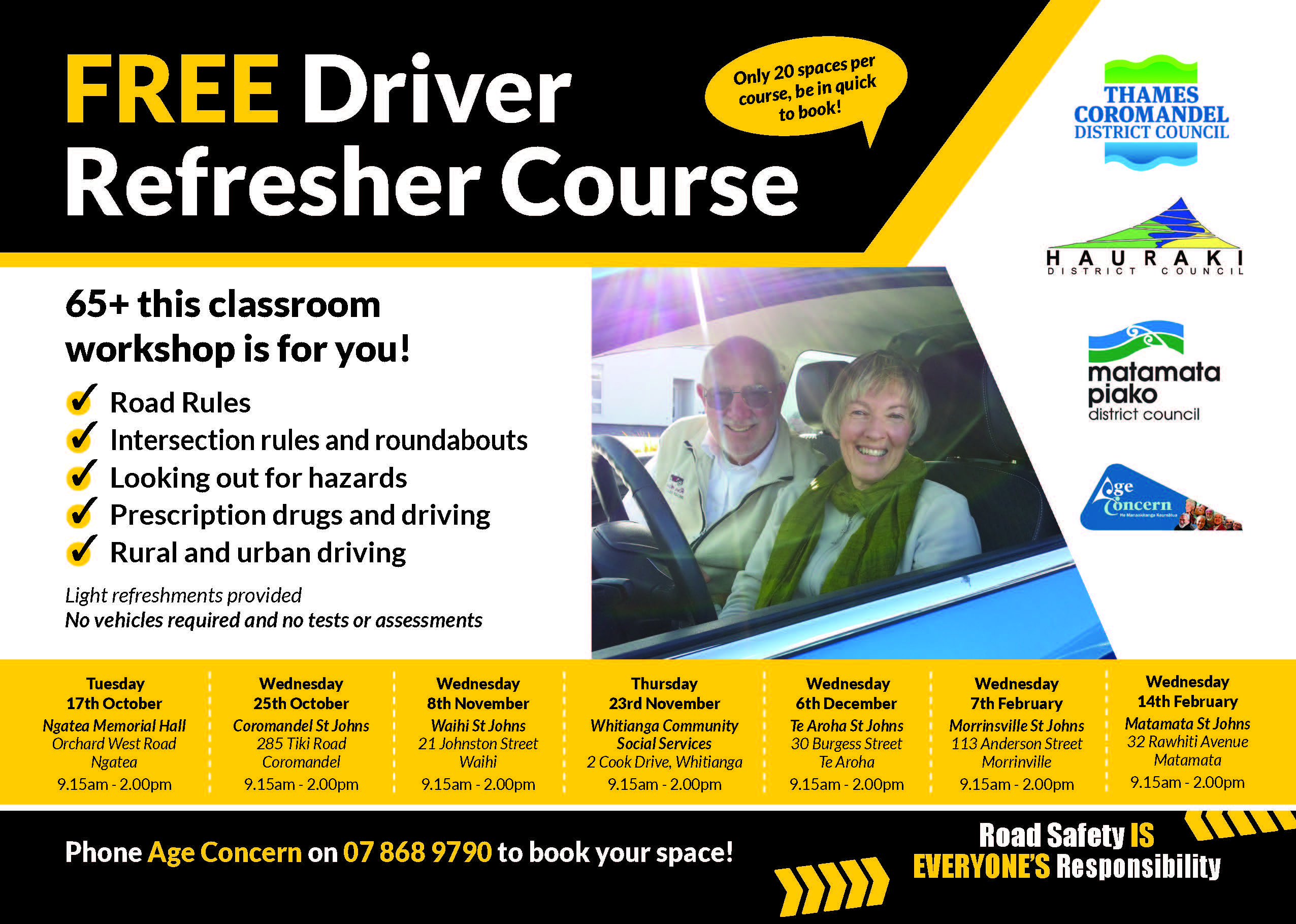 Driver Refresher A5 Flyer updated and APPROVED
